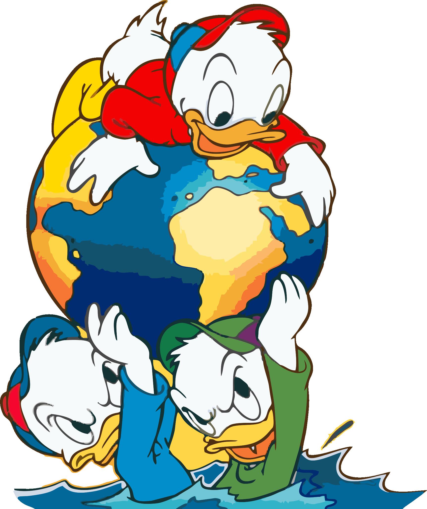 Eles são patos, mas também são sobrinhos! Reflita!
