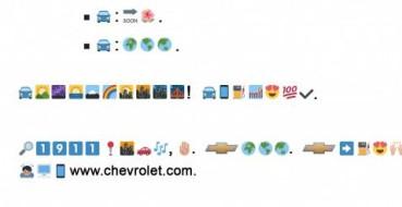 Chevrolet anuncia novo carro em comunicado composto por emojis