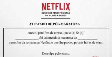 """Netflix cria atestado de atraso para """"sériemaníacos"""""""