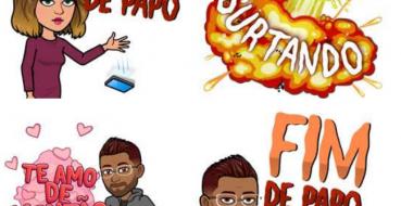 Snapchat bitmojis com frases em português